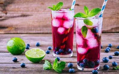 Patriotic Red, White and Blue Mojito