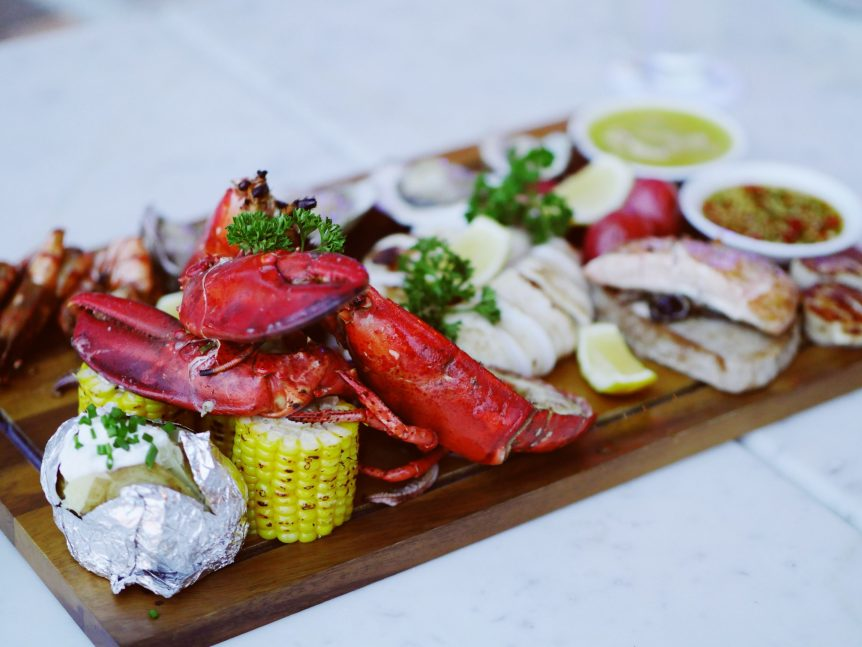 Simple grilled lobster