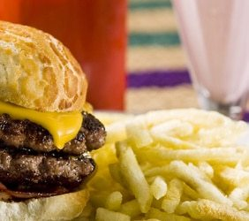 Double BBQ Buffalo Cheeseburger