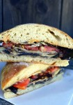 Portabello mushroom caprese burger