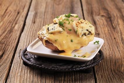 Easy cheesy twice baked potato