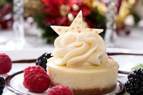 White Chocolate Cheesecake with Raspberries and Blackberries