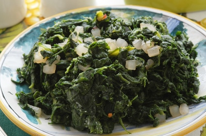 Braised Wild Greens Featuring Swiss Chard