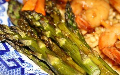 Shrimp and Asparagus in Black Bean Sauce