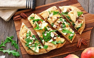 Apple, Truffle and Roasted Garlic Pizza
