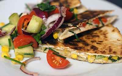 Grilled Chicken & Goat Cheese Quesadilla