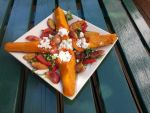 Butternut Squash with Goat Cheese and Fried Sage