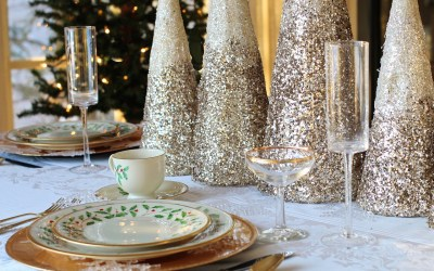 easy christmas-dinner place setting