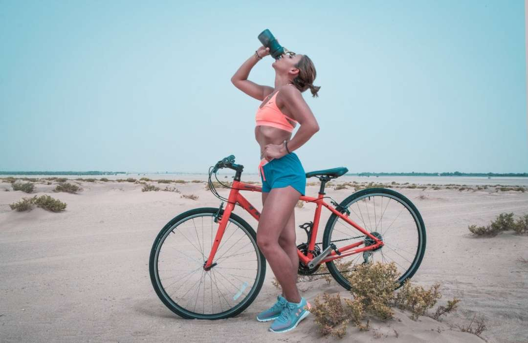 Ride a bike to get in shape