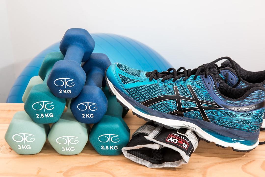 beginners quick start fitness plan - dumbbells