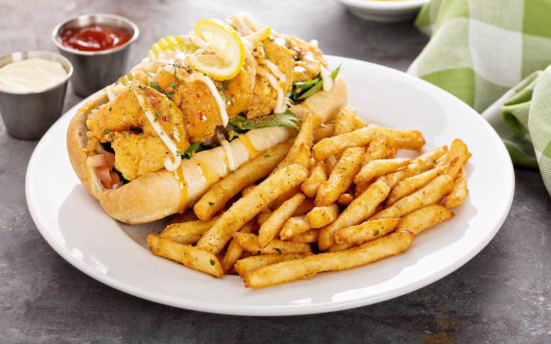 Fried Shrimp Po Boy With Creole Remoulade