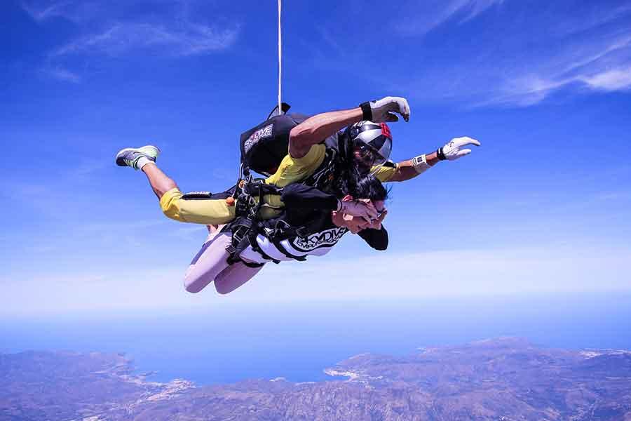 Plan an adventure like skydiving