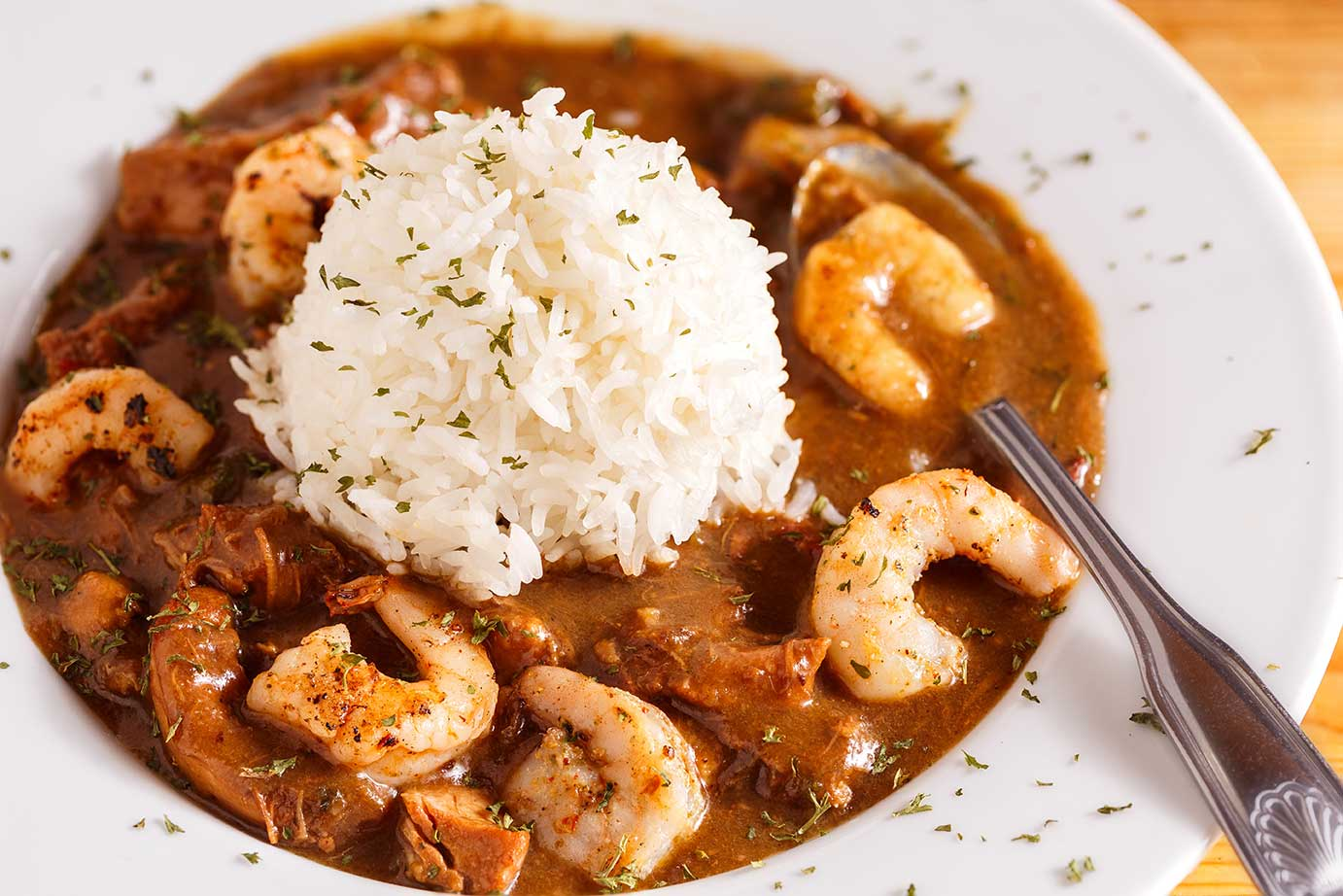 Authentic Creole Shrimp Étouffée Recipe via @mermaidsandmojitos