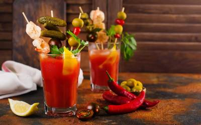 Spicy Cajun Bloody Mary Cocktail