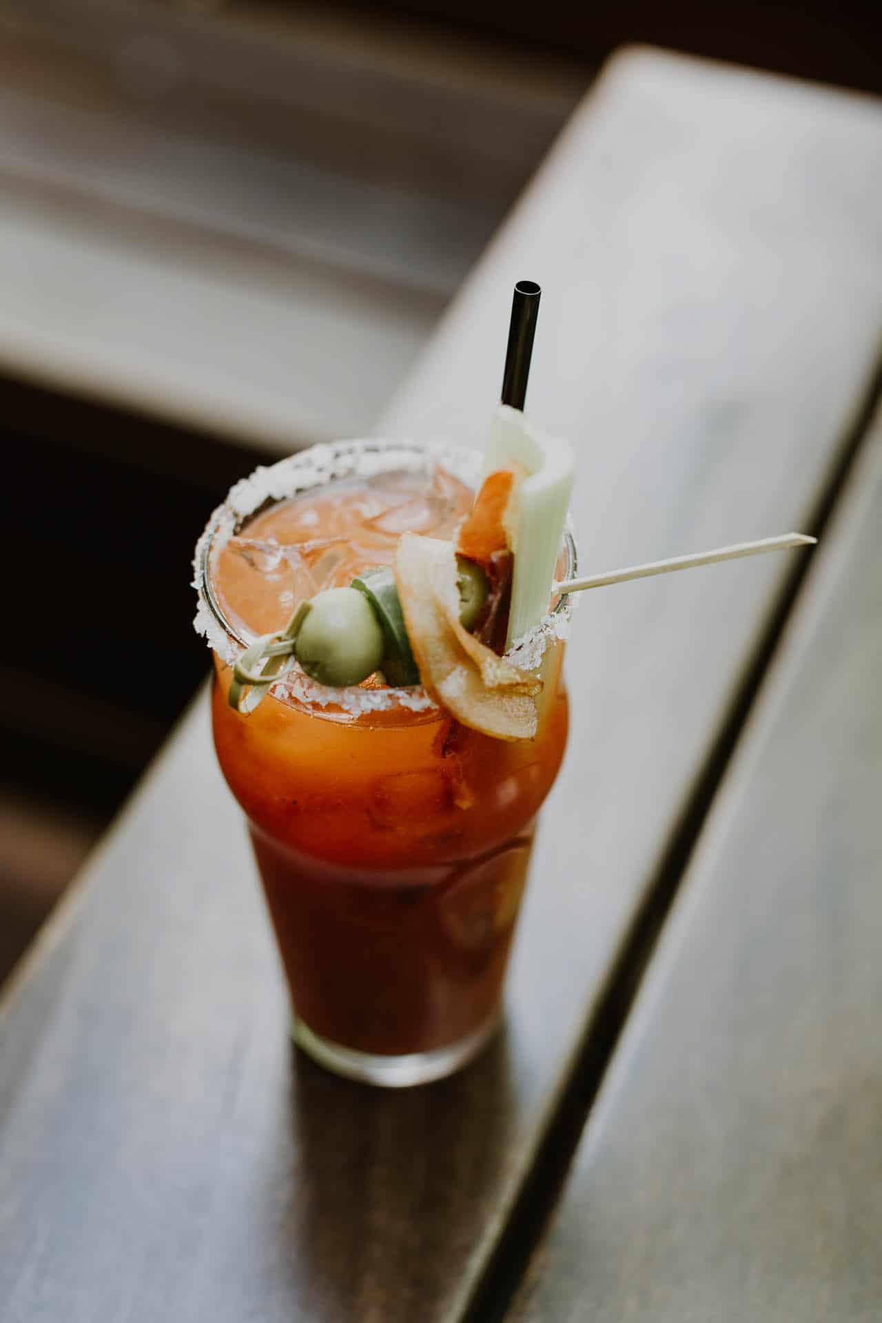 Classic Bloody Mary Cocktail via @mermaidsandmojitos