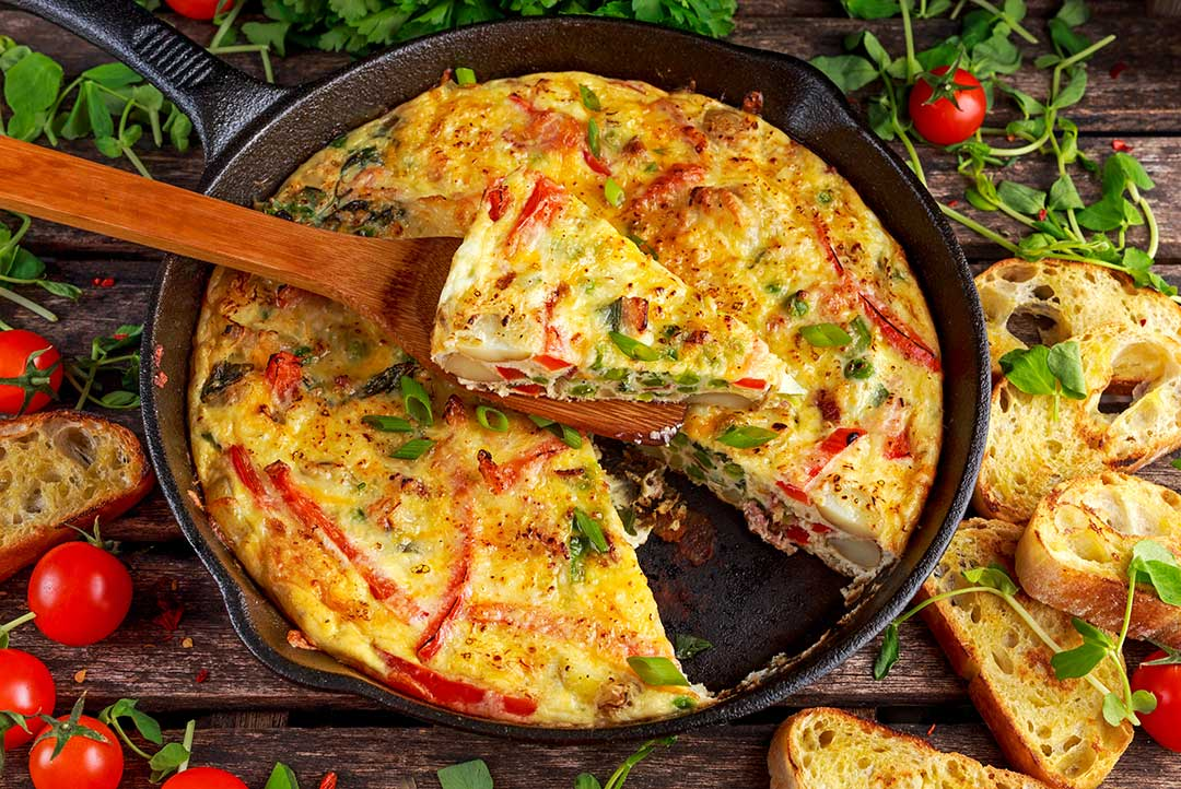 Tortilla de Patata or Spanish Tortilla via @mermaidsandmojitos
