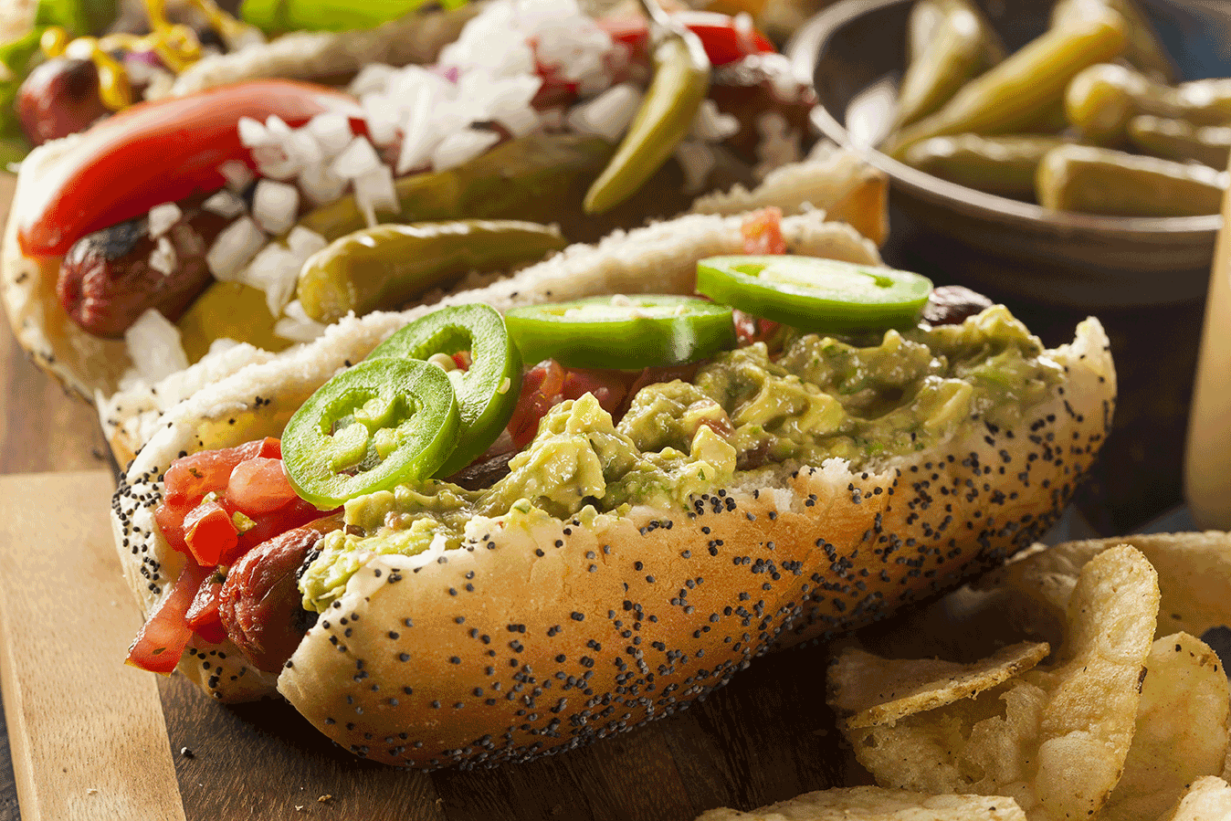 Spicy Mexican Hot Dog Recipe via @mermaidsandmojitos