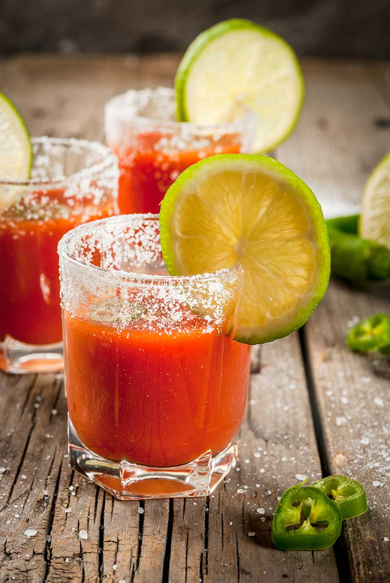 Bloody Maria Sangrita Recipe via @mermaidsandmojitos