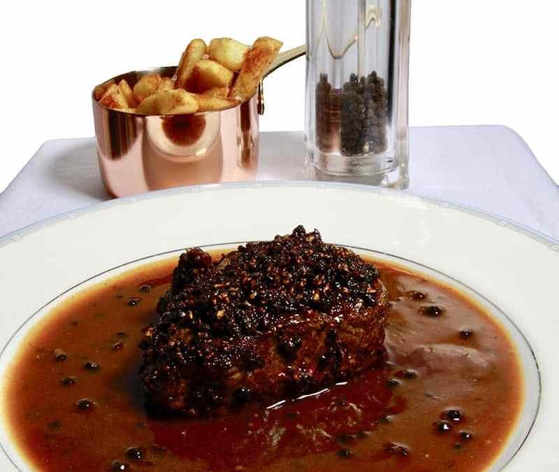 Classic Steak Au Poivre   Pepper Crusted Steak in Cognac Sauce