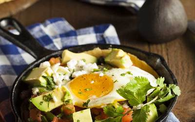 Easy Cheesy Huevos Rancheros Casserole
