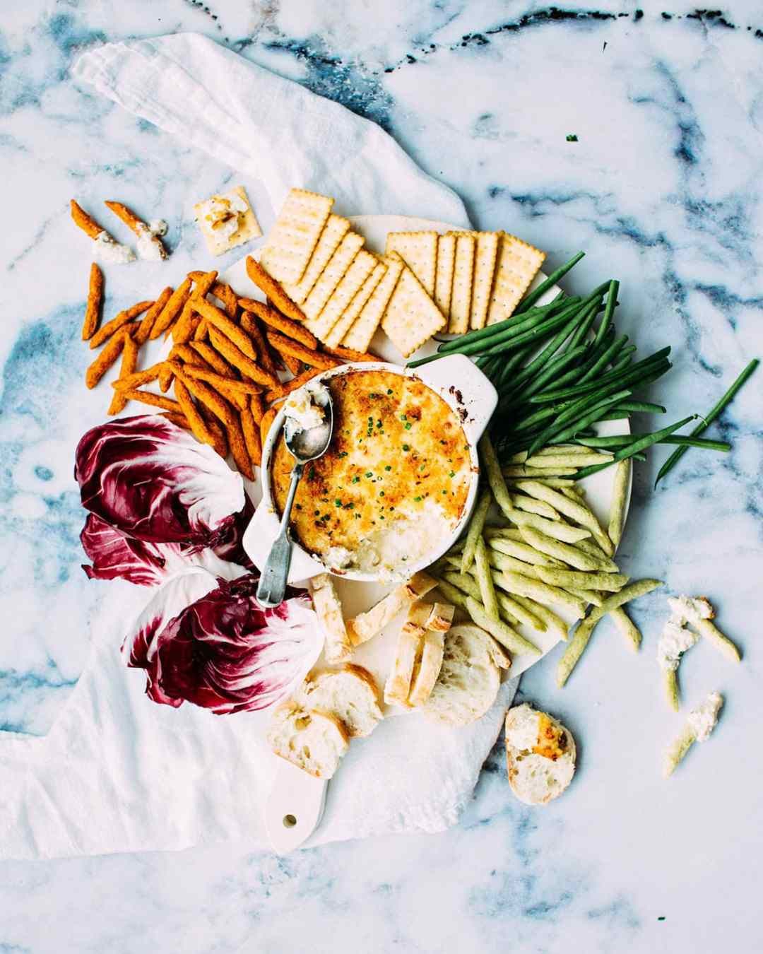 Homemade hummus with veggies tray
