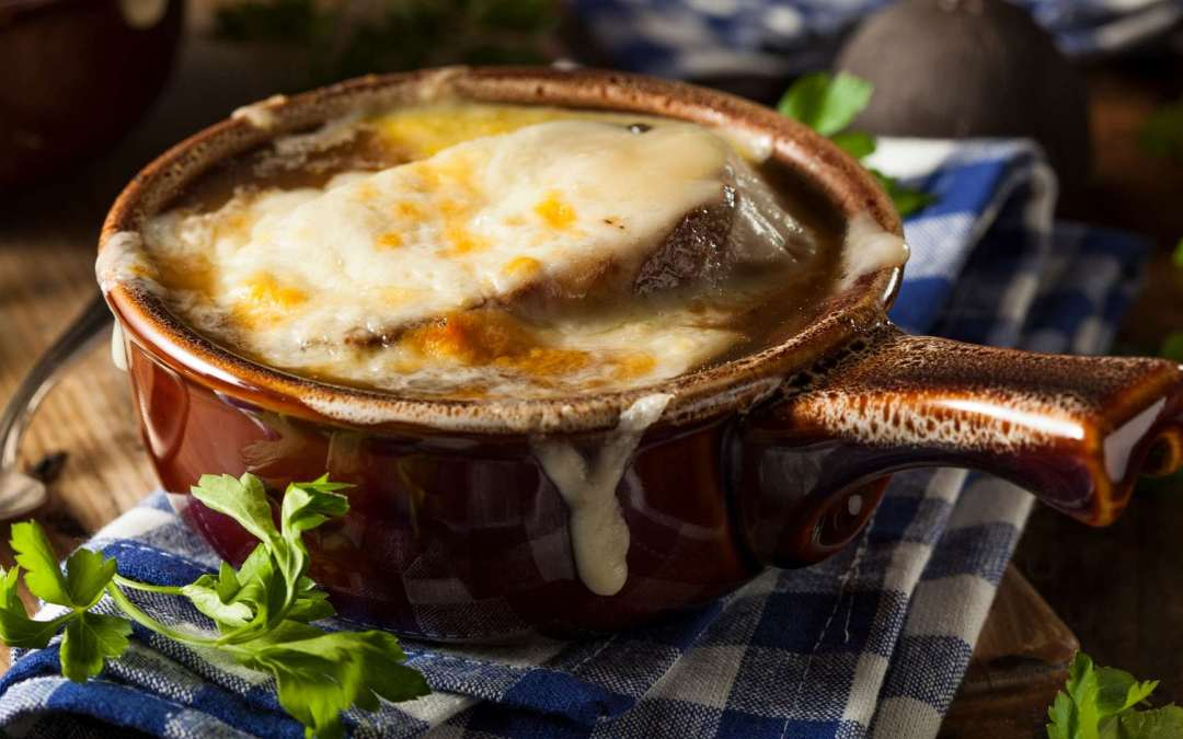 Irish Onion Soup with Caramelized Guinness Onions