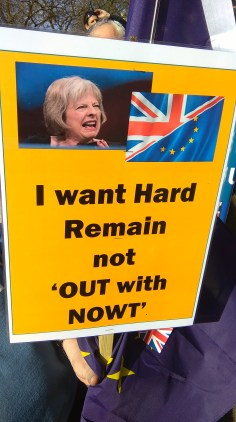 I want hard remain not 'OUT with NOWT'