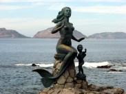 Reina de los Mares mermaid statue