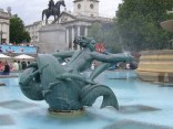 Trafalgar Square Mermaid sculptures and fountains