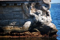 Vizcaya Stone Barge Bow Mermaids