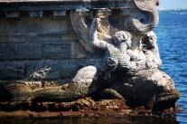 Vizcaya Stone Barge Bow Mermaids