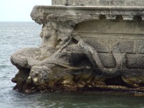 Vizcaya Stone Barge Stern Mermaid