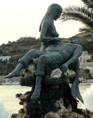 Panagia Gorgona mermaid on Syros in Greece