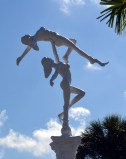 Mermaids Sculpture at Weeki Wachee Entrance