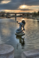 Pearl of the Concho Mermaid Statue. Photo © by Jonathan Cutrer.