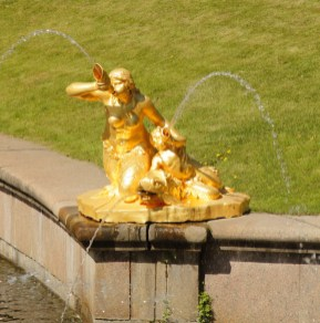 Mermaid statues in Samson Fountain at Peterhof