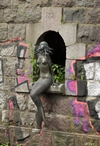 The Užupis Mermaid in Vilnius, Lithuania