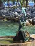 The Mermaid statue on Coco Cay