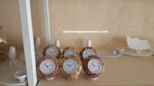 doğal taş masa saatleri