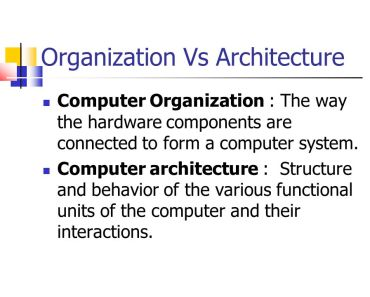computer architecture and computer organization