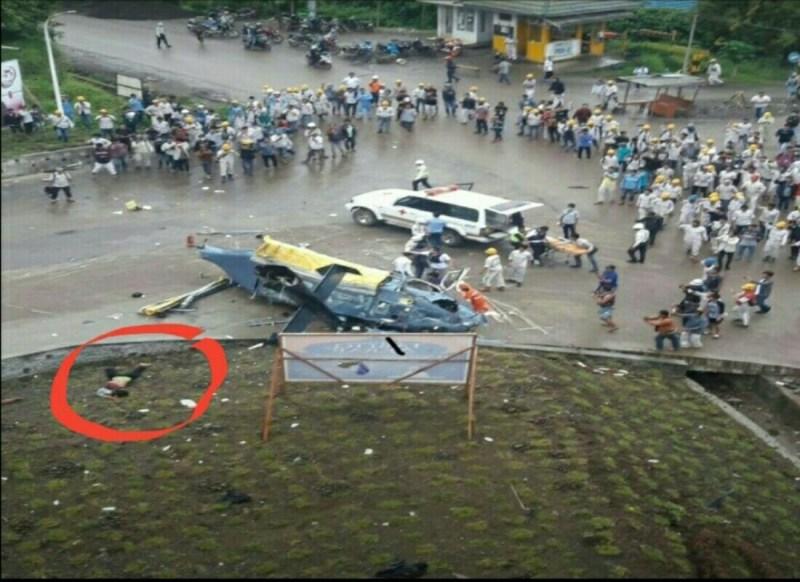 Helikopter PT IMIP Jatuh di Morowali Seorang Korban Meninggal