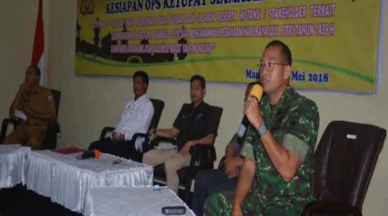 Danrem 142 Hadiri Rakor Polda Sulawesi Barat