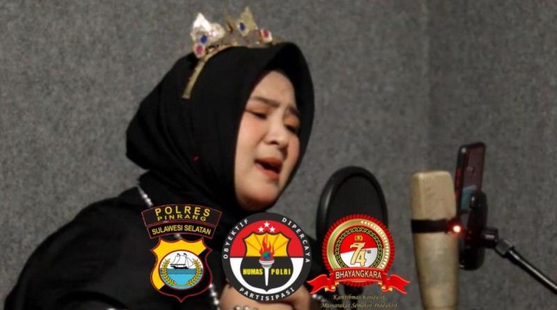 Penyanyi lagu Daerah Polres Pinrang Lolos ke Grand Final. AKBP Dwi Santoso Jadikan Masyarakat Bangga