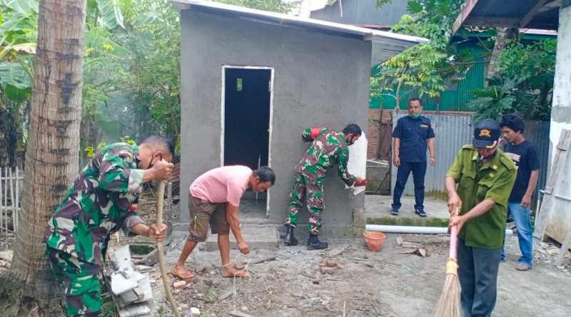 Peduli Pendidikan, Karang Taruna Mattiro Sompe Gelar Pembangunan Toilet di TK Pantai Biru.