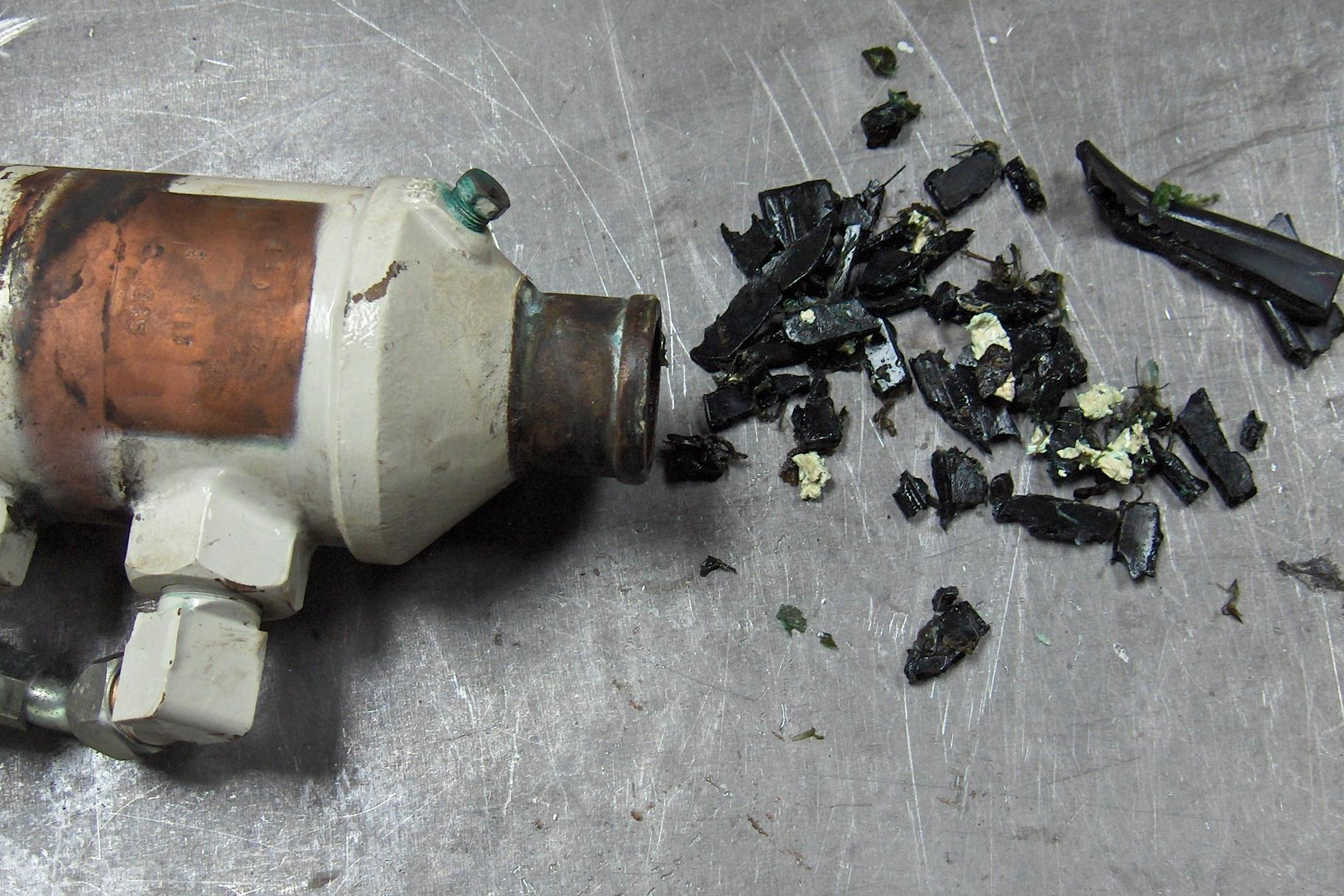 Raw Water Impeller Fragments Recovered From An Oil Cooler