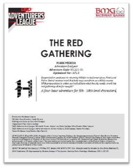 5E Adventure Review: The Red Gathering – Merric's Musings