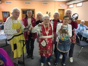 Seniors Posing Kitchen