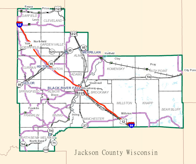 snippet of the jackson county GIS map