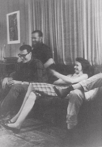 Merrill with Stegner Fellows, Ed McClanahan and Bob Stone, Stanford, 1962