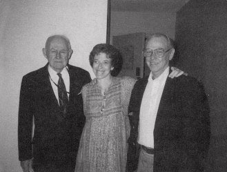 Merrill with Andrew Lytle and Smith Kirkpatrick, 1989